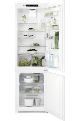 Volume 275 L - Dimensions HxLxP : 177.2x54x54.9 cm - A++ Réfrigérateur à froid brassé 200 L Congélateur à froid statique 75 L Eclairage LED - Rangements de porte adaptables à l'infini