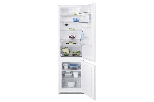 Volume 303 L - Classe A++ (243 kWh/an) Réfrigérateur brassé - Congélateur statique Hauteur 184,2 cm (niche 184,5 à 185 cm) Fixation de l'habillage sur glissières