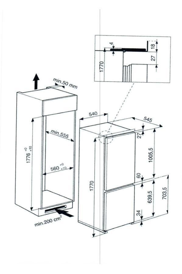 Refrigerateur congelateur encastrable hotpoint bcb7030aafc darty - Refrigerateur encastrable darty ...