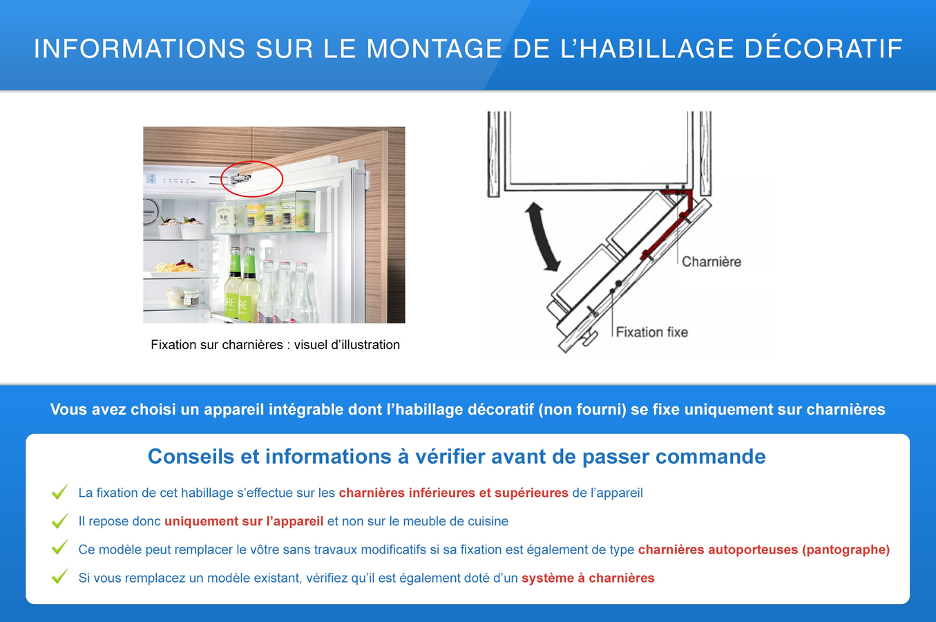 Refrigerateur congelateur encastrable liebherr ecbn 5066g - Fixation porte frigo encastrable ...