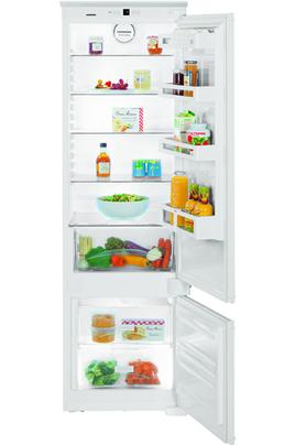 Volume net : 281 L - Classe A++ (217 kWh/an) Réfrigérateur PowerCooling - Congélateur Smart Frost Hauteur 177 cm (niche 177,2 à 178,8 cm) Fixation de l'habillage sur glissières