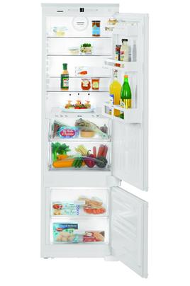 Volume 261 L - Classe A++ (232 kWh/an) Réfrigérateur brassé - Congélateur statique Hauteur 178 cm (niche 177,2 à 178,8 cm) Fixation de l'habillage sur glissières