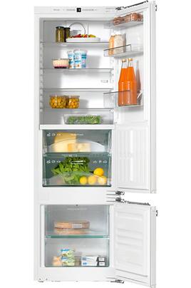 Volume total 261 litres - Classe A++ Réfrigérateur froid DynaCool - 204 Litres Dimensions niche : 177.2x56x55 Tiroirs PerfectFresh - Eclairage LED