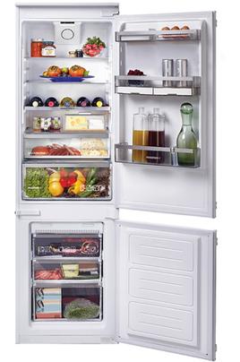 Volume 240 L - Classe A+ - Intérieur prémium Réfrigérateur froid brassé - Congélateur froid ventilé Hauteur 177 cm (niche 177.1 à 177.6 cm) Fixation de l'habillage sur glissières