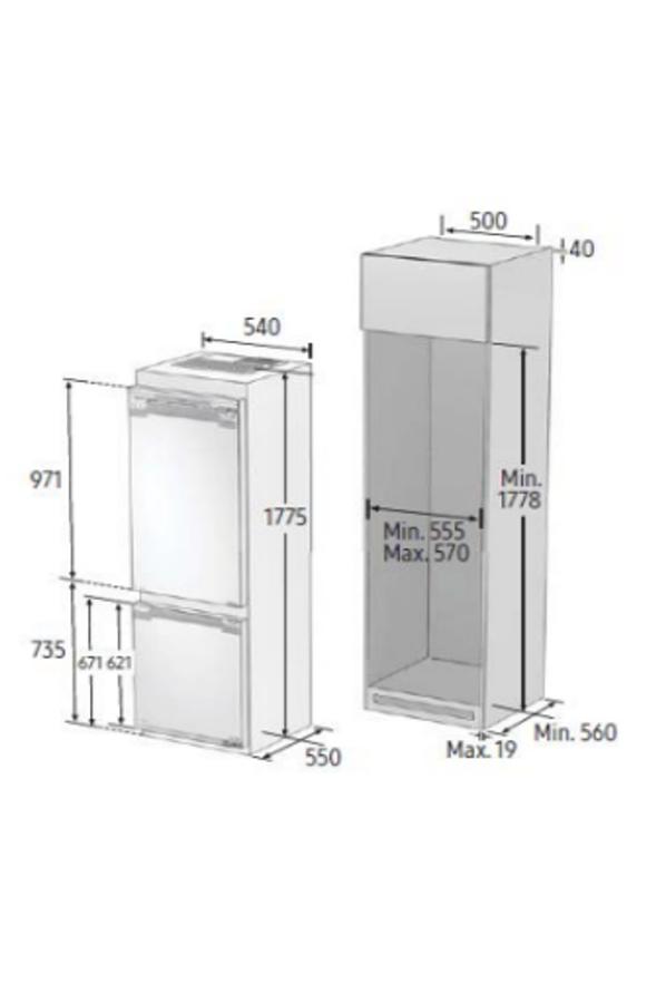 Refrigerateur congelateur encastrable samsung brb260176ww 4307194 darty - Refrigerateur congelateur encastrable darty ...