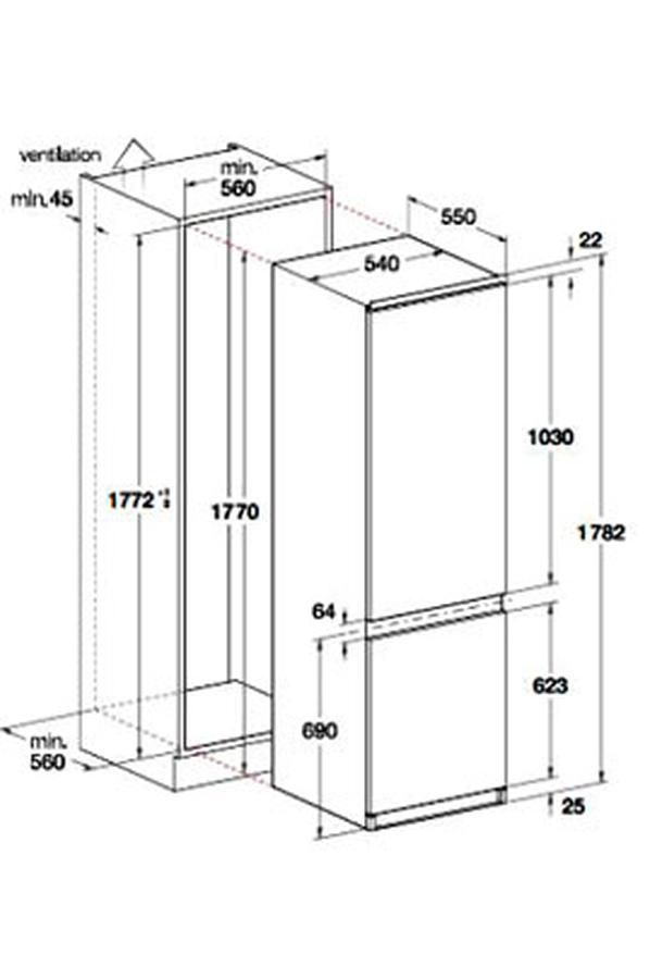 frigo congel encastrable refrigerateur congelateur encastrable whirlpool art6612 aeg combi. Black Bedroom Furniture Sets. Home Design Ideas
