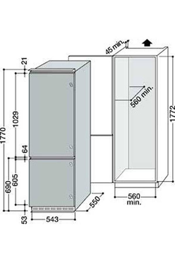 Refrigerateur Congelateur Encastrable Scholtes Rcb 31 Ai 3076822 Darty