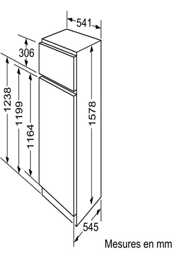 refrigerateur congelateur encastrable siemens ki28da20 darty. Black Bedroom Furniture Sets. Home Design Ideas