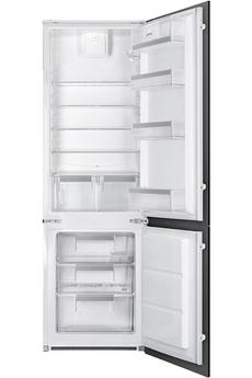 Volume 277 L - Classe A+ (297 kWh/an) Réfrigérateur à froid brassé - Congélateur statique Hauteur 177.9 cm (niche 178 cm) Fixation de l'habillage sur glissières