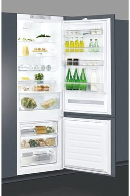 Volume 400 L - Classe A+ (328 kWh/an) Réfrigérateur brassé - Congélateur statique less frost Hauteur 193.5 cm (niche 194 à 195 cm) Fixation de l'habillage sur glissières