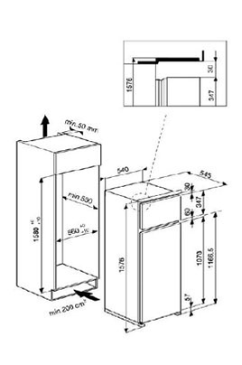 refrigerateur congelateur encastrable whirlpool art364 a 5 1583654. Black Bedroom Furniture Sets. Home Design Ideas