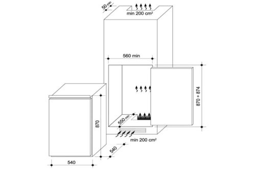Réfrigérateur encastrable CBO 150 E Candy
