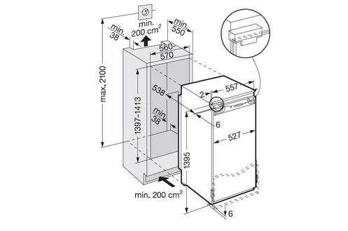 refrigerateur encastrable liebherr ikb 2820 3463931. Black Bedroom Furniture Sets. Home Design Ideas