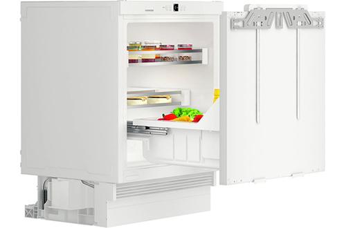 Hauteur de niche 88 cm (HxLxP : 82x59.7x55 cm) Réfrigérateur à froid statique / Fixation sur charnières pantographe Capacité de 123 L - Classe A++ - Niveau sonore 39 dB Adapté aux personnes à mobilité réduite