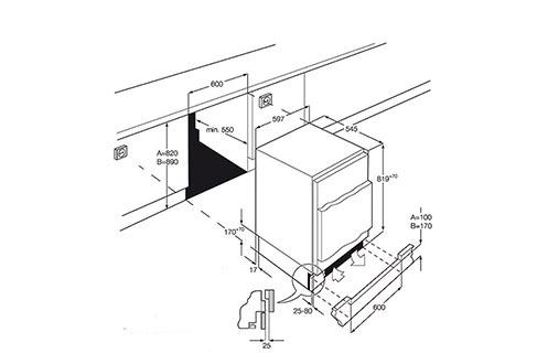 Réfrigérateur encastrable SKS68240F0 Aeg