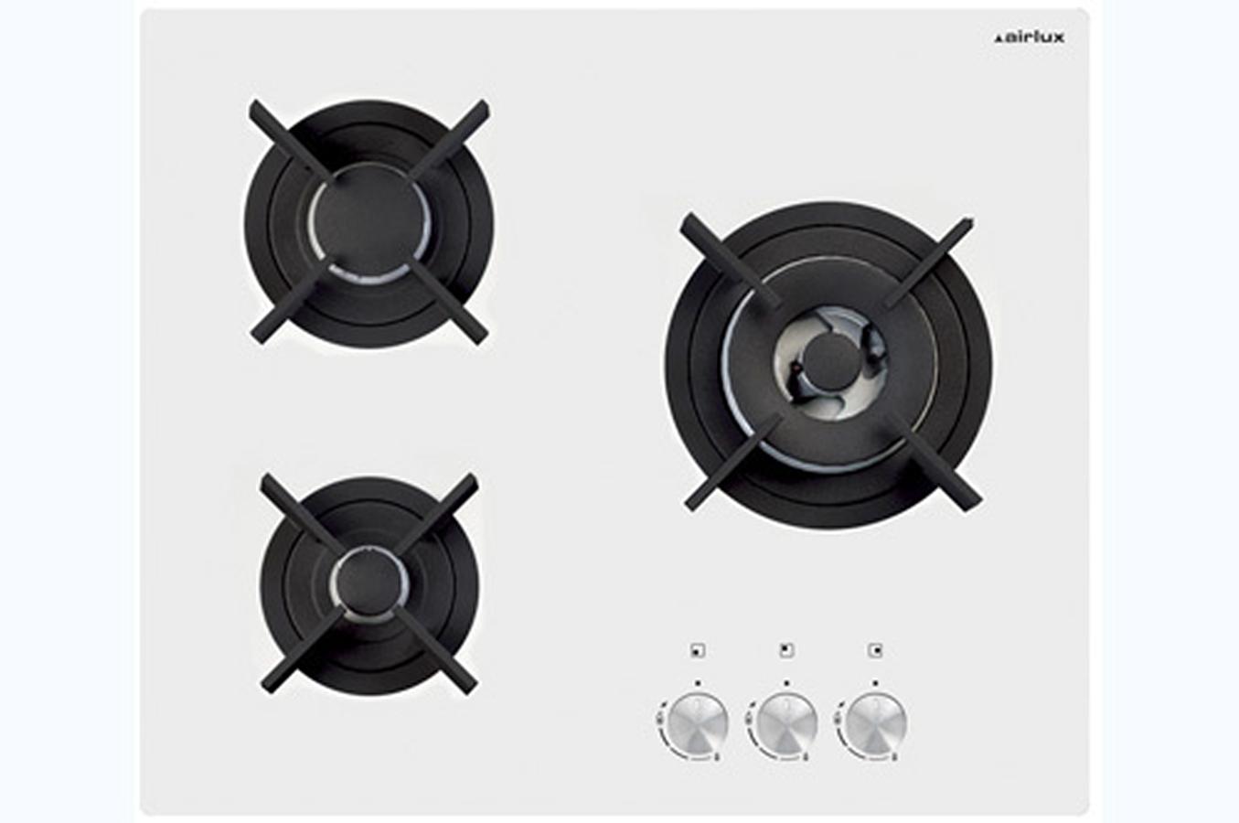 Plaque gaz airlux av635hwh 3852342 darty - Table de cuisson gaz et electrique encastrable ...