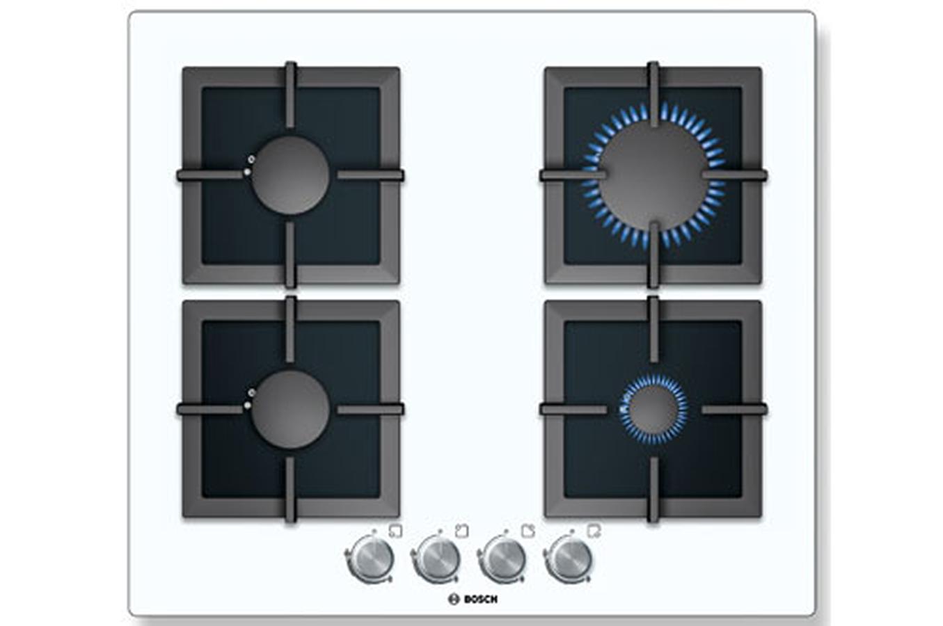 plaque gaz bosch ppp612b21e blanc ppp612b21e 3479153 darty. Black Bedroom Furniture Sets. Home Design Ideas