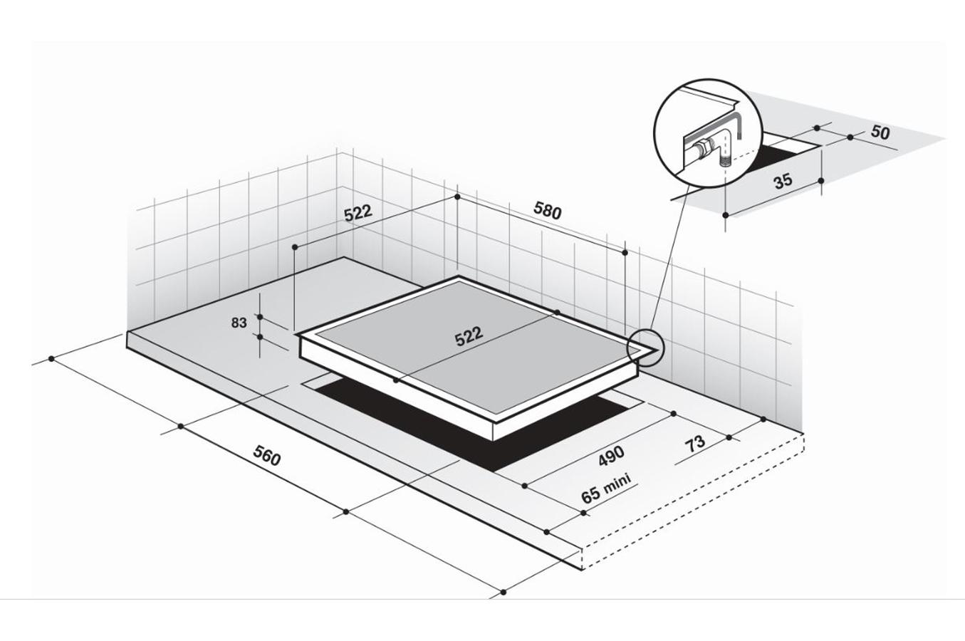 Plaque gaz de dietrich dpe7610x 4318528 darty - Table de cuisson gaz darty ...