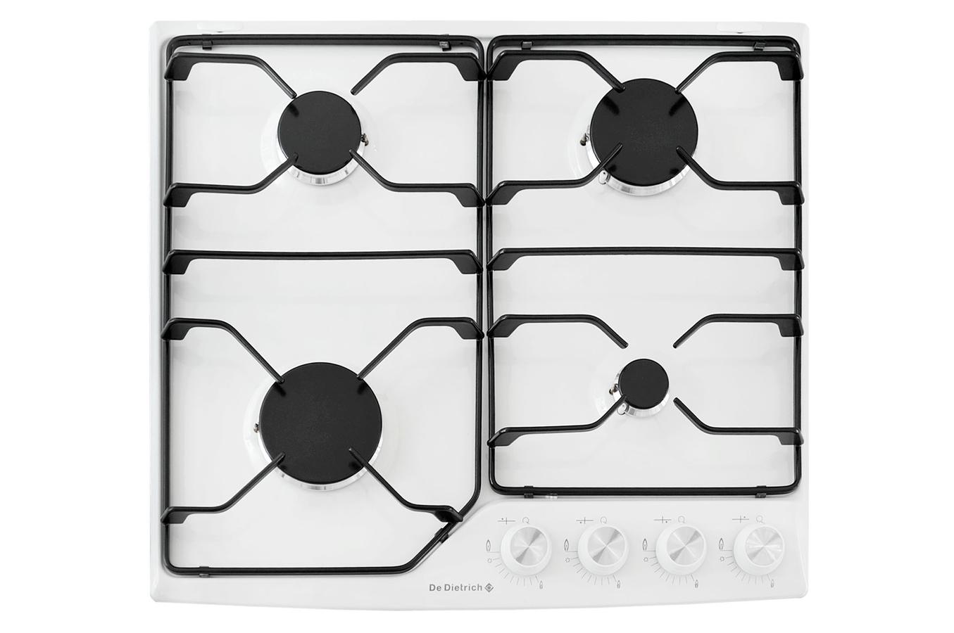 Plaque gaz de dietrich dte1110w blanc dte1110w 3489167 darty - Table de cuisson gaz darty ...