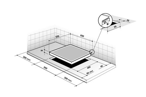 plaque gaz de dietrich dtg 1105x 3603040. Black Bedroom Furniture Sets. Home Design Ideas