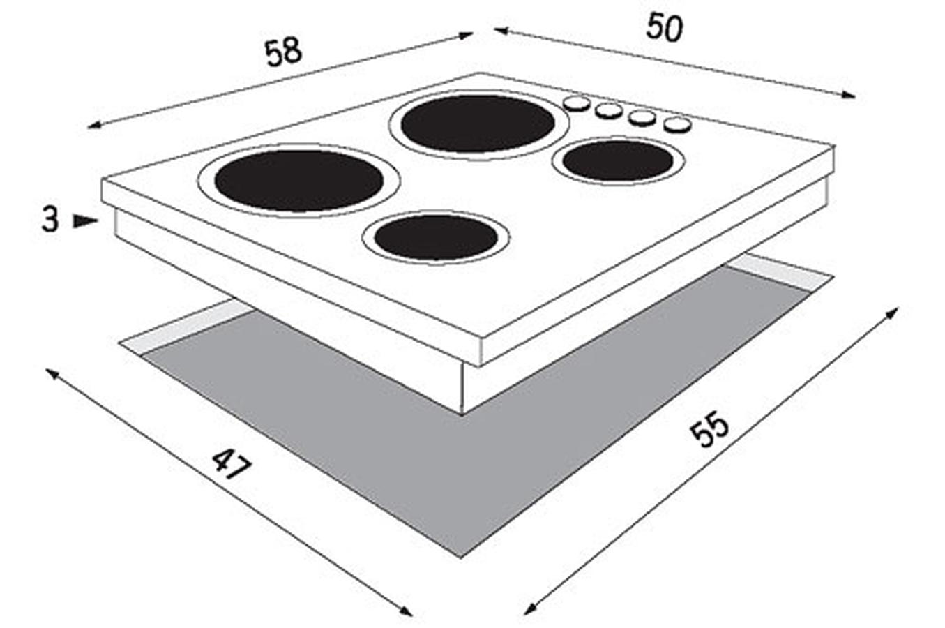 Plaque gaz faure cpg 106 x inox cpg106 x 1790684 darty - Table cuisson gaz inox ...