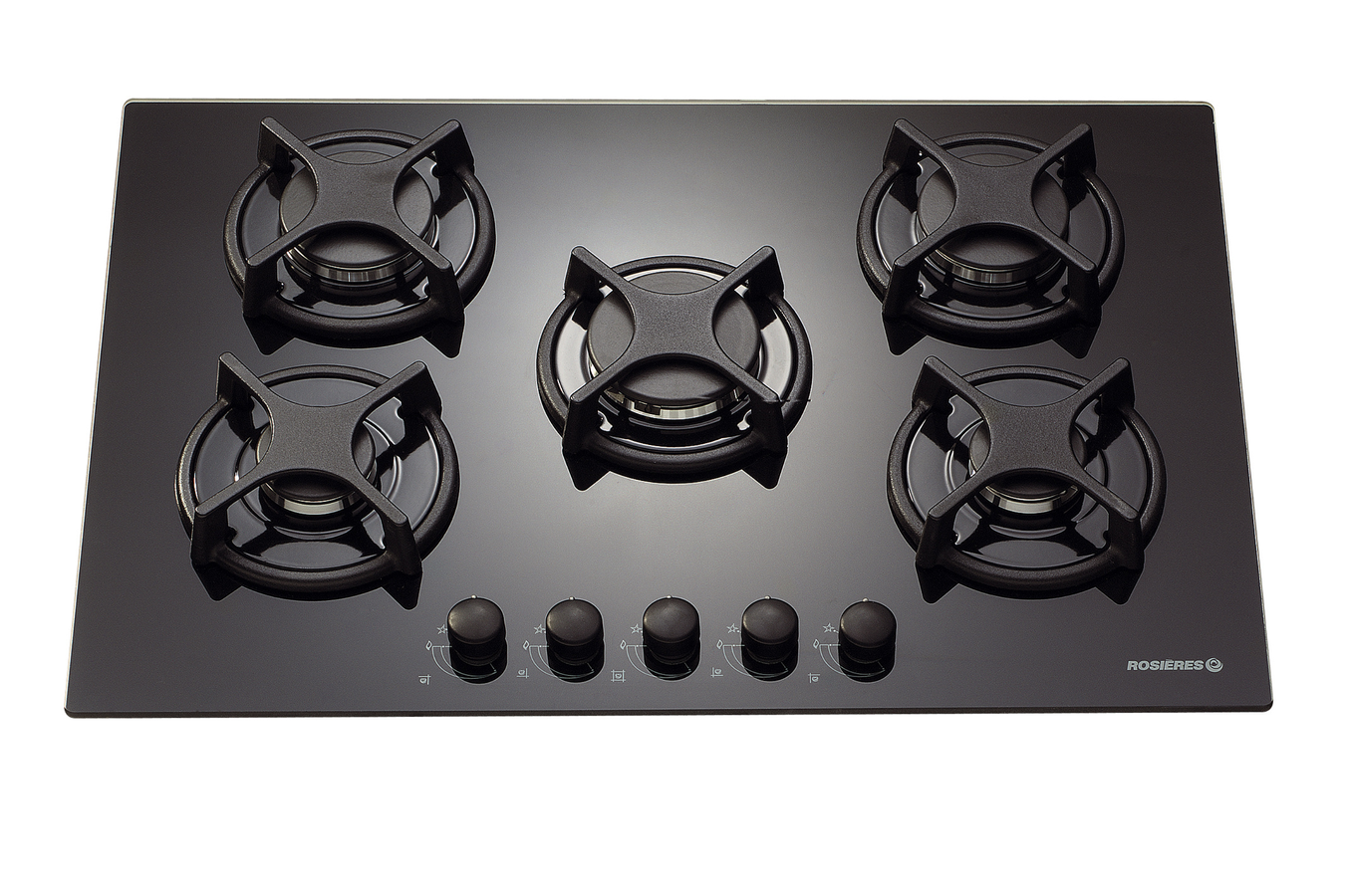 Plaque gaz rosieres rtv 750 fpn noir rtv750fpn 2069660 darty - Table de cuisson gaz induction ...