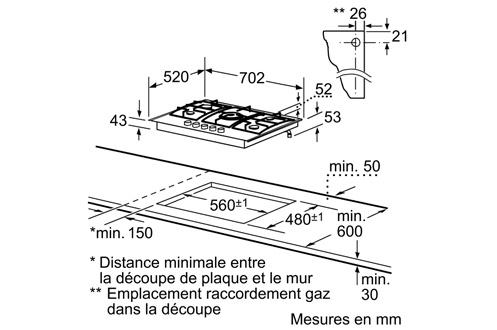 plaque gaz siemens ec715qb80e inox 3206998 darty. Black Bedroom Furniture Sets. Home Design Ideas