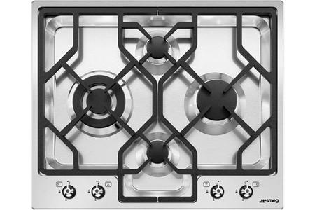 plaque gaz smeg pgf64 4 darty. Black Bedroom Furniture Sets. Home Design Ideas
