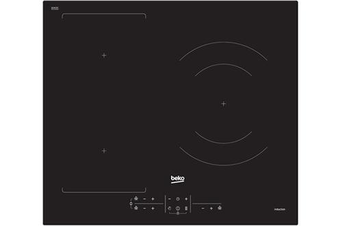 3 foyers induction dont 1 zone extensible Puissance du foyer principal : 2500 W et 3700 W (booster) Puissance totale 7200 W - 1 foyer double zone de 18 et 28 cm 3 boosters - 3 minuteurs - Commandes Sensitives