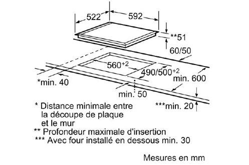 Bosch PIN651T14E NOIR