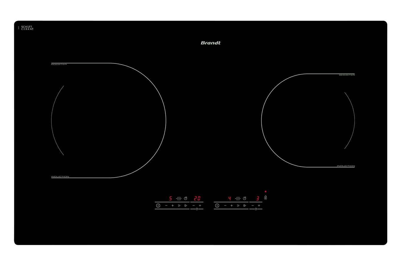 plaque induction brandt ti1070b noir ti1070b 3595706 darty. Black Bedroom Furniture Sets. Home Design Ideas