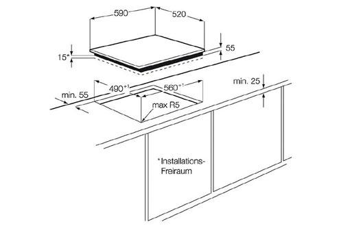plaque induction electrolux ehm6532iow blanc ehm6532iow 3601102. Black Bedroom Furniture Sets. Home Design Ideas