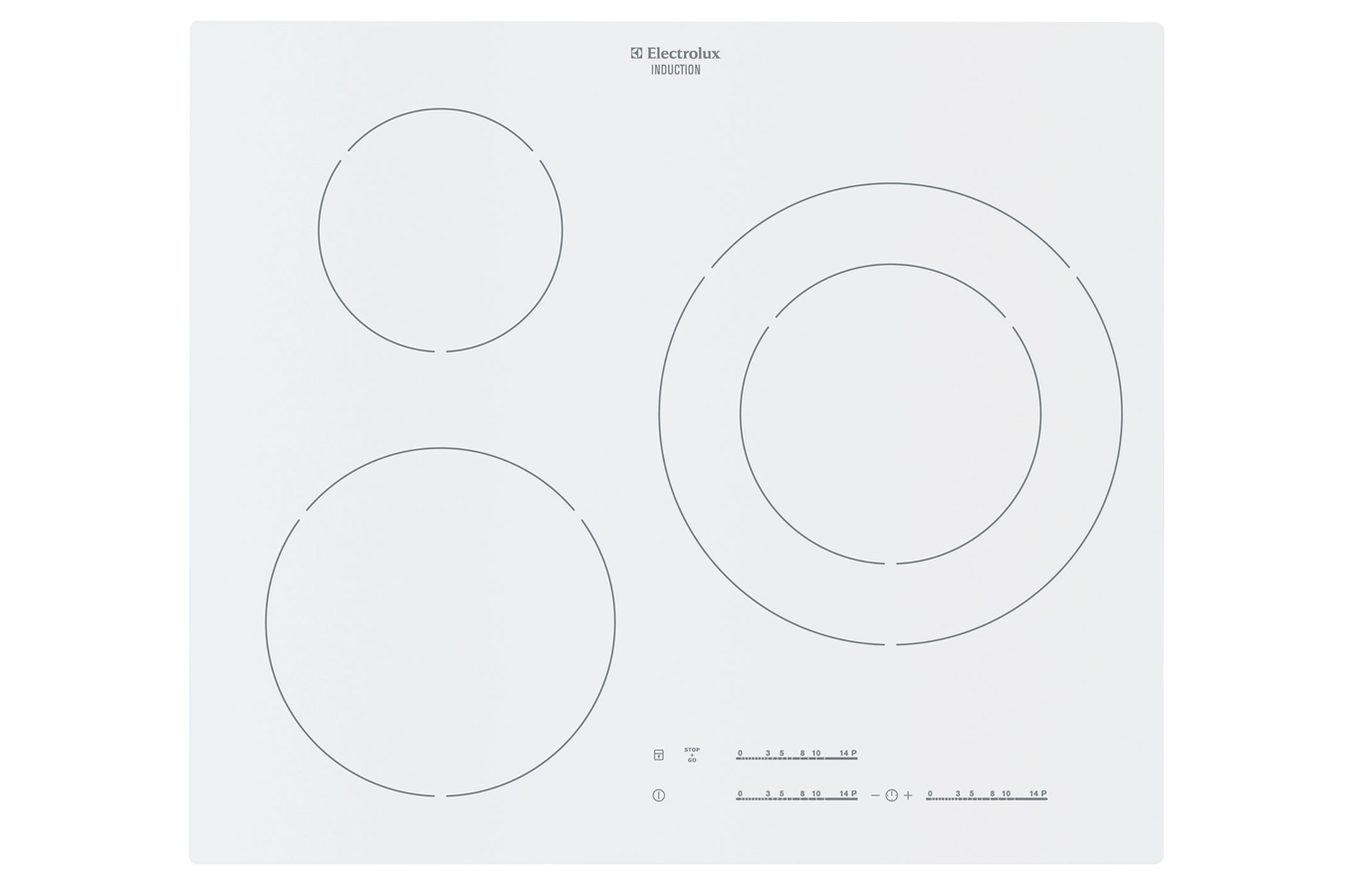 Plaque induction electrolux ehm6532iow blanc ehm6532iow - Table de cuisson induction electrolux ...