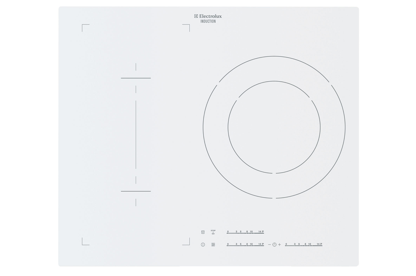 Plaque induction electrolux ehn6532iow blanc ehn6532iow - Table induction blanche 3 foyers ...