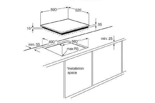 Встраиваемая поверхность Electrolux EHS60210P.