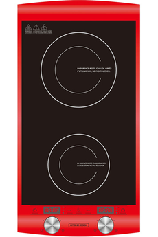 Plaque induction Kitchen Cook INDUC2 RED