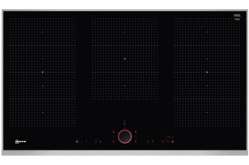 """5 foyers induction dont 3 zones modulables """"FlexInduction"""" Puissance foyer principal : 3300 W (maxi) et 3700 W (booster) Commandes sensitive + bouton amovible magnétique TwistPad Fonction PowerMove +, PanBoost, Frying sensor"""