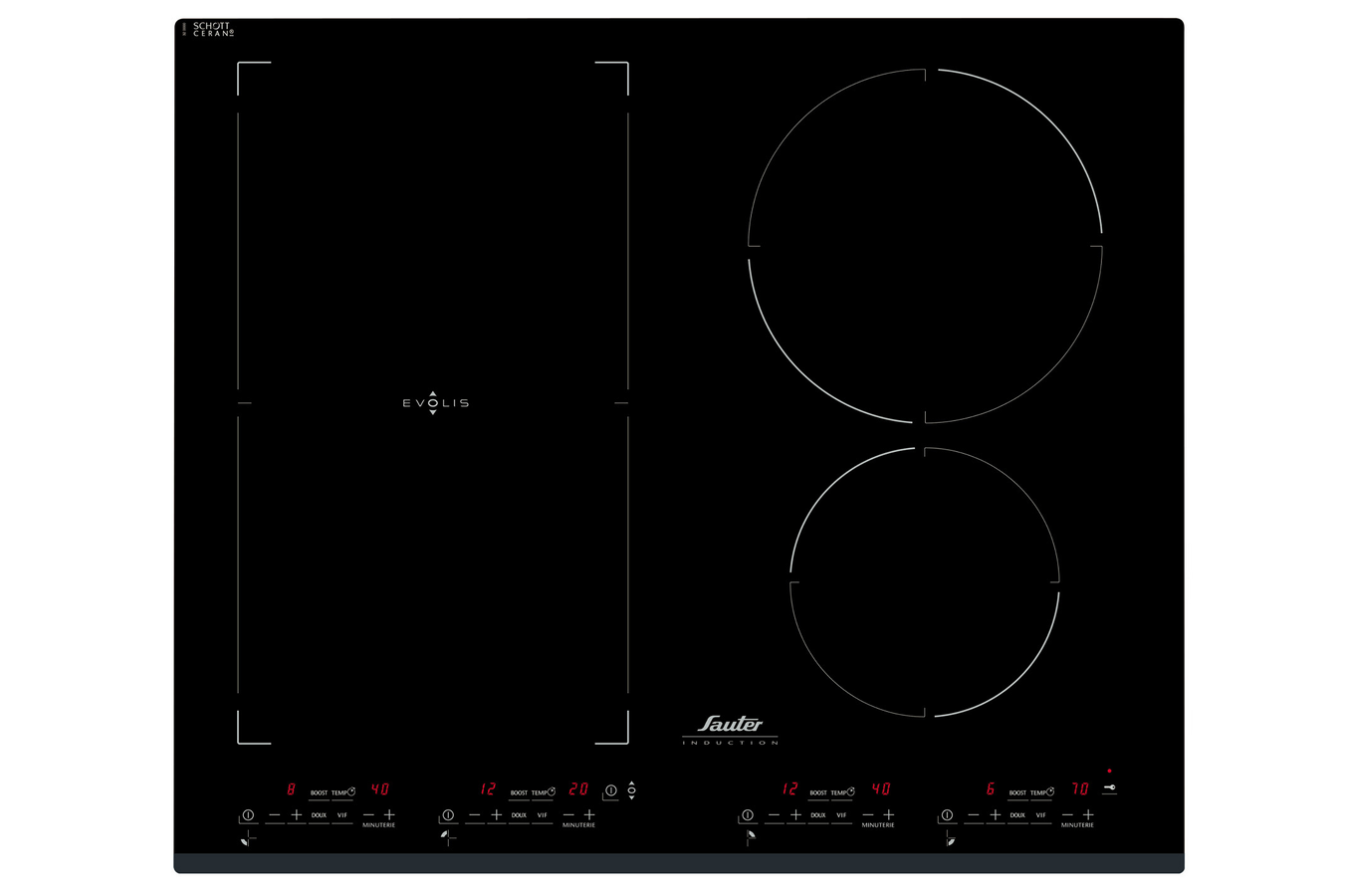 Sauter sti967b table de cuisson for Table de cuisson induction sauter