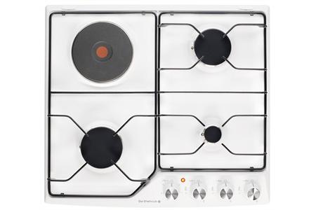 plaque mixte de dietrich dte1111w blanc dte1111w darty. Black Bedroom Furniture Sets. Home Design Ideas