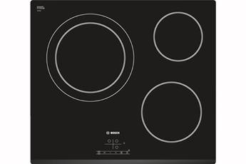 3 foyers radiants dont 1 double zone Commandes sensitives 17 positions de cuisson 3 minuteurs
