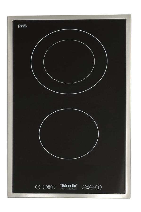 plaque vitroc ramique koch gk 2 tc cadre inox 2613980 darty. Black Bedroom Furniture Sets. Home Design Ideas