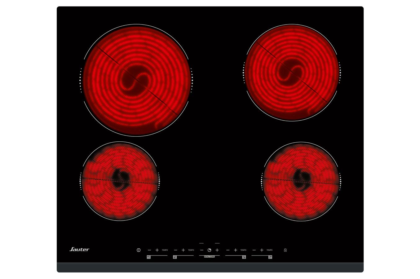 Table Vitroceramique Foyer Halogene : Plaque vitrocéramique sauter spv b darty