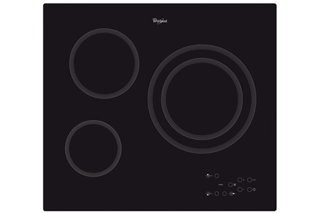 plaque vitroc ramique whirlpool akt807ne darty. Black Bedroom Furniture Sets. Home Design Ideas
