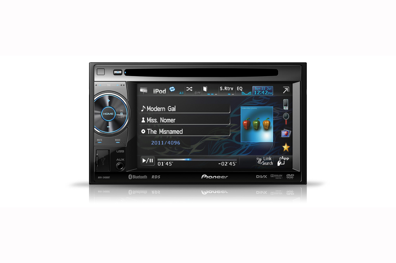 autoradio pioneer avh 2400bt 3583570 darty. Black Bedroom Furniture Sets. Home Design Ideas