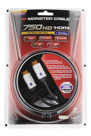 Cable Video Monster Hdmi 750 1m V2 140455 00 Darty