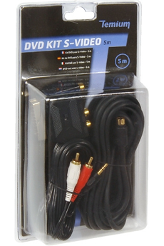 Cable video KIT Péritel/S-video/RCA 5M Temium