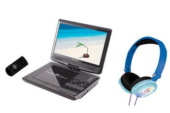 DVD portable BDVDP 1050 NOIR + CASQUE FROZEN Brandt