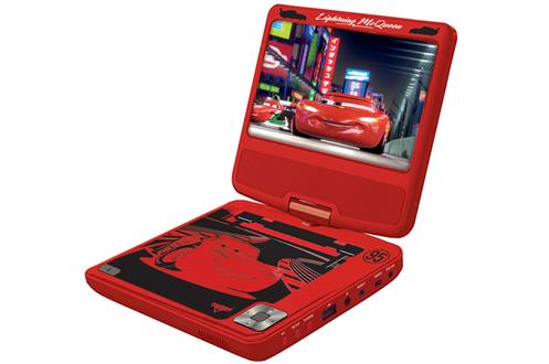 Pour une conduite en toute tranquillité !!! Avec ce lecteur DVD portable Lexibook customisé à l'effigie des héros de vos enfants, vous pourrez partir en voyage sereinement et, pour eux, le temps passera plus vite ! Le lecteur DVD Cars, qui permet de visio