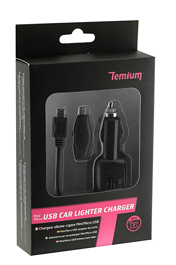 chargeur cable pour gps temium chargeur allume cigare mini micro usb p0821c01car 1280295. Black Bedroom Furniture Sets. Home Design Ideas