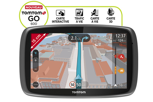 test gps tomtom go 600 darty vous. Black Bedroom Furniture Sets. Home Design Ideas